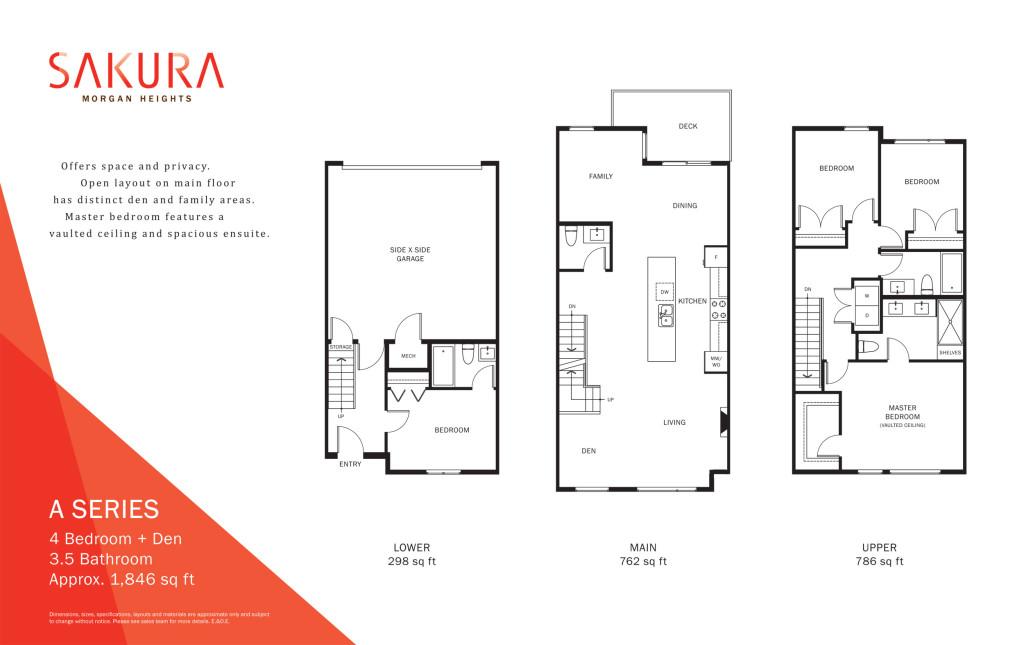 Sakura Townhouse floorplan-a