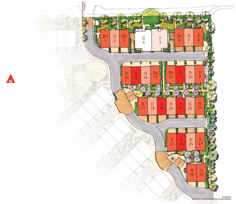 Site Plan 2 - Sakura Townhomes Townhouse Guy South Surrey New strata development