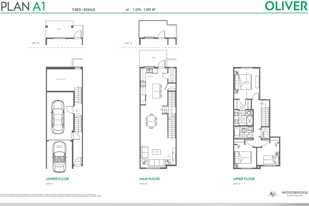 Oliver townhouse guy south surrey plan A1