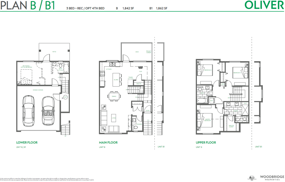 Oliver townhouse guy south surrey plan B
