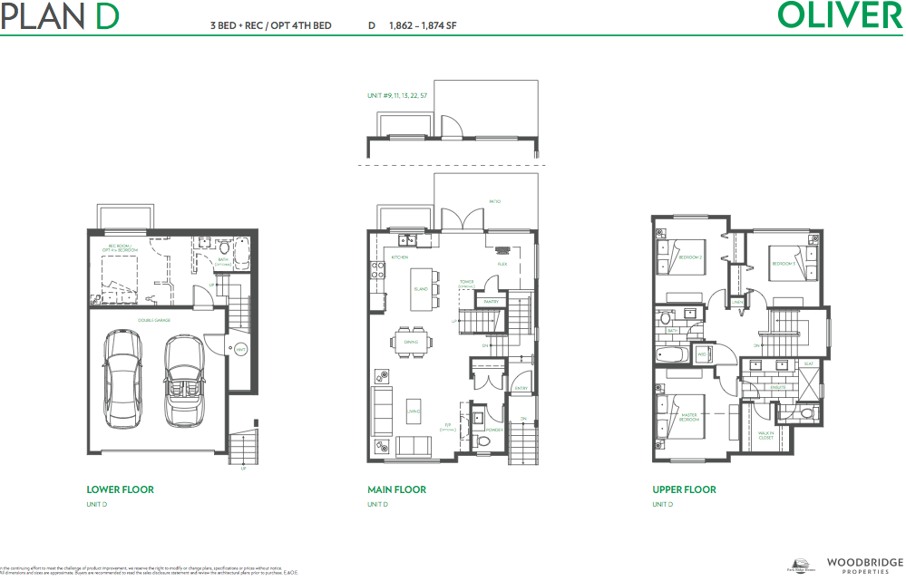 Oliver townhouse guy south surrey plan d