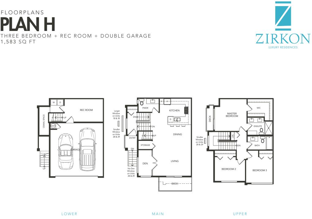 Zirkon Townhomes South Surrey Sunnyside park new townhouse development v9c