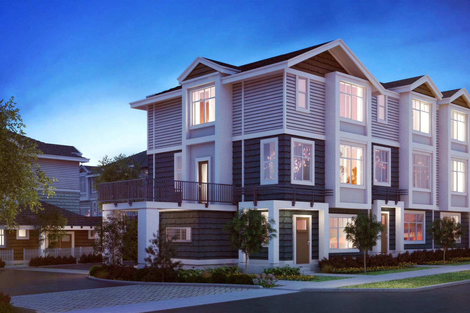 Zirkon townhomes in south surrey luxury residences at for Modern townhouse architecture