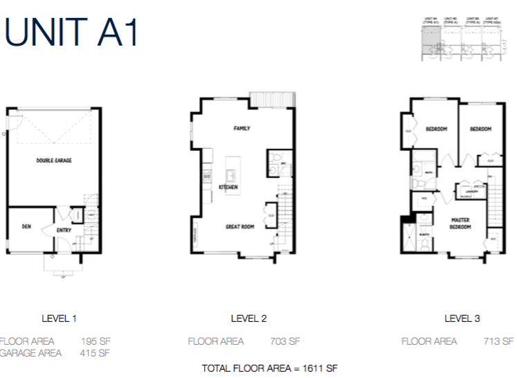 South on 16 townhome floorplans 1