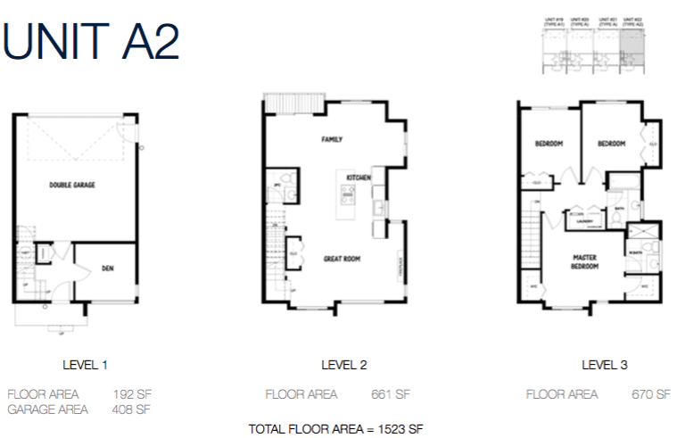 South on 16 townhome floorplans 3