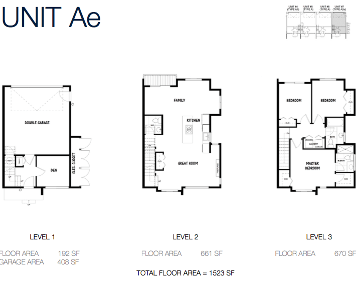 South on 16 townhome floorplans 4