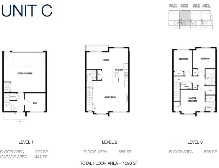 South on 16 townhomes luxury townhouse development in Luxury townhome floor plans