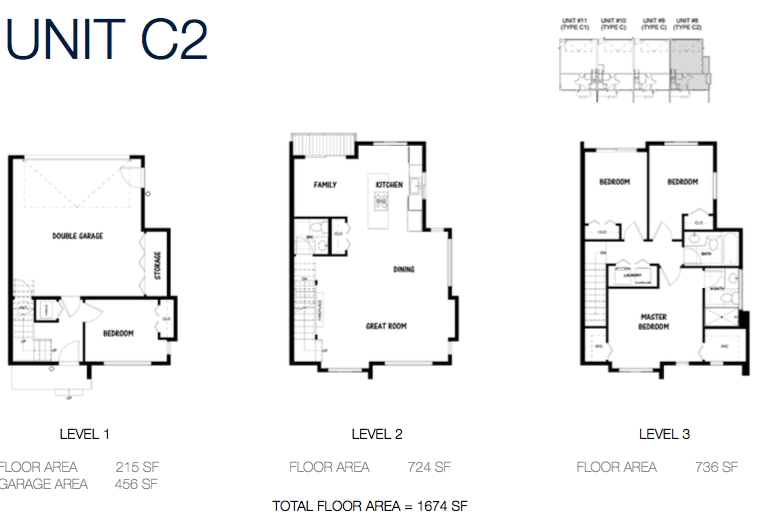 South on 16 townhome floorplans 9a