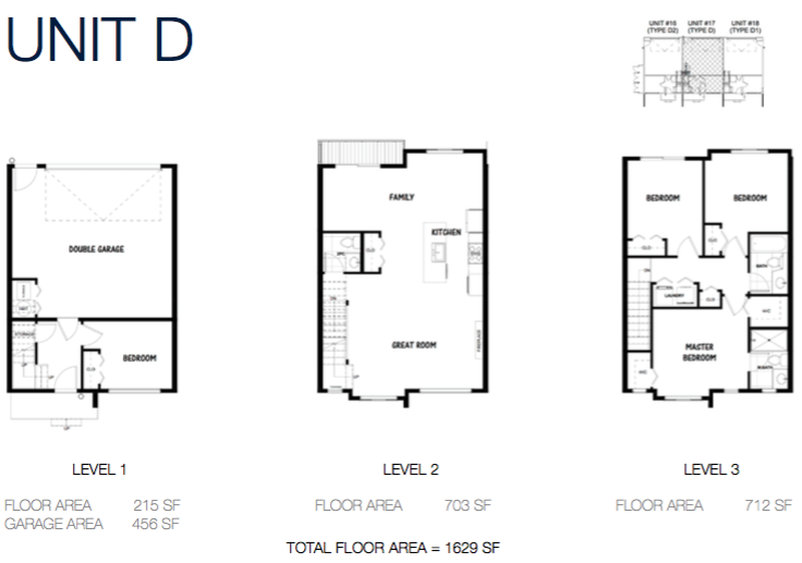 South on 16 townhome floorplans 9b