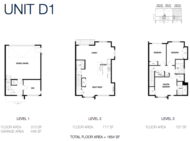 South on 16 townhome floorplans 9c