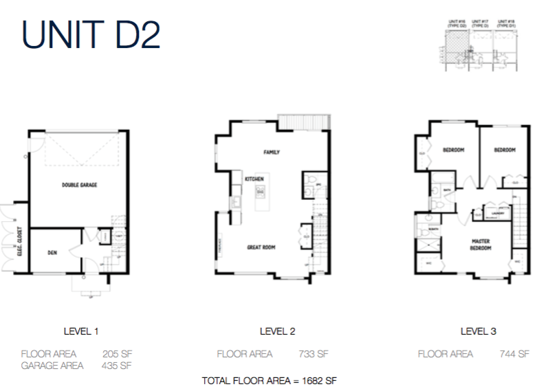 South on 16 townhome floorplans 9d