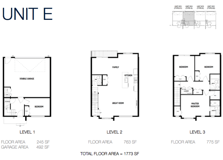 South on 16 townhome floorplans 9e