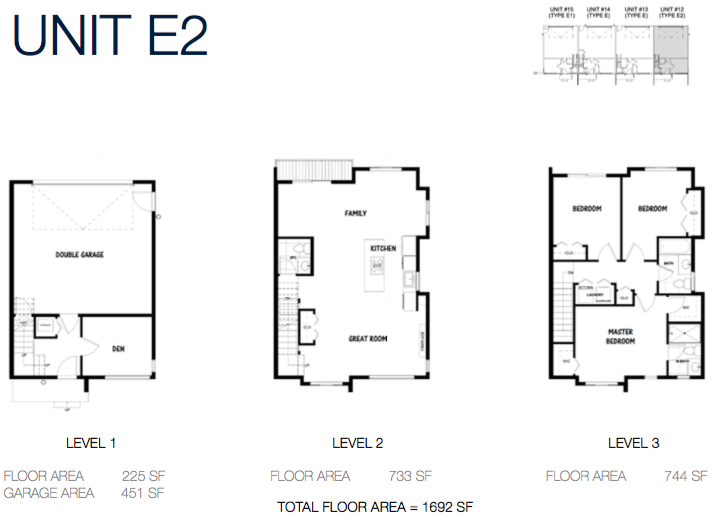 South on 16 townhome floorplans 9g