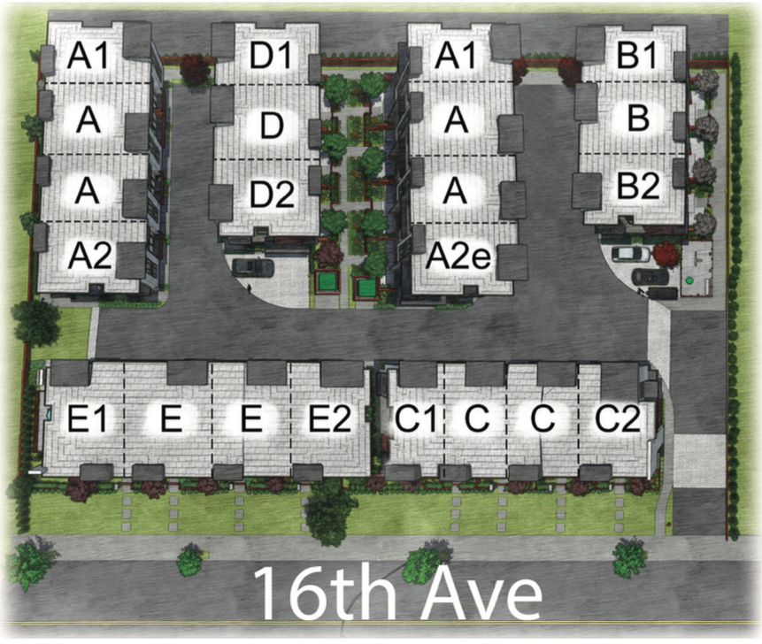 South on 16 townhoumes Site Plan