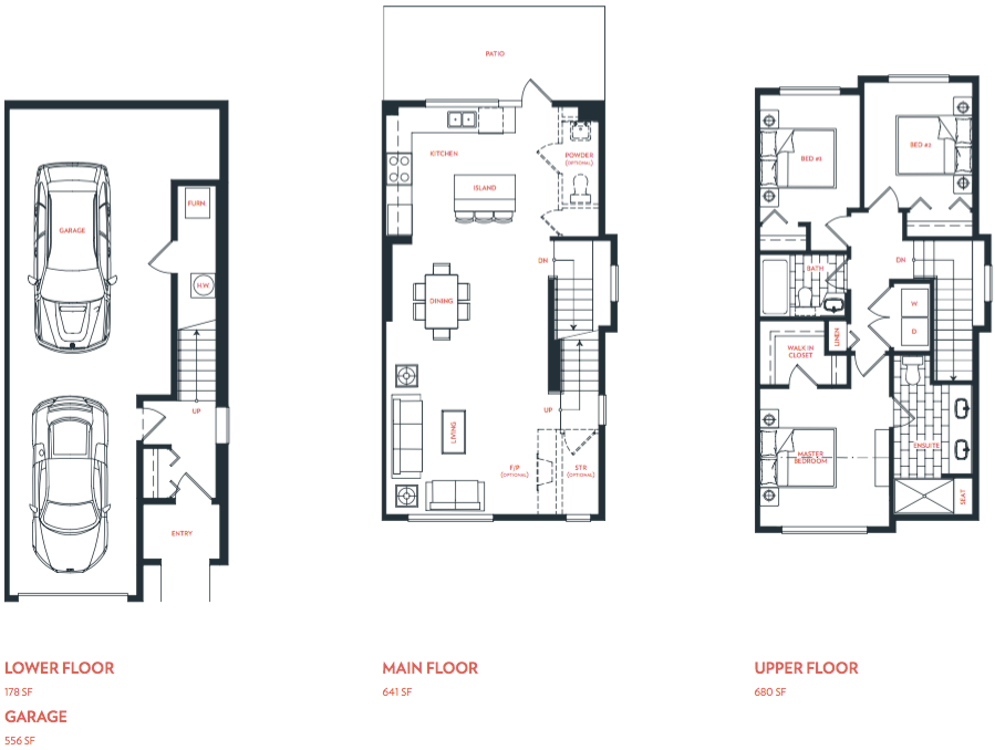 Olivia Townhomes Plan A