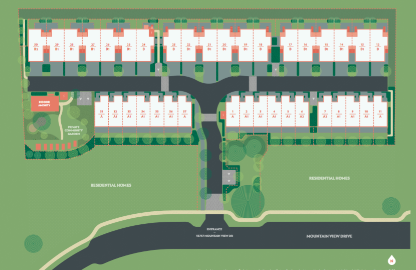 Olivia Townhomes Site Plan